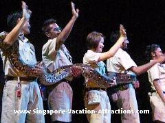 Creatures of the Night show at Night Safari Singapore, a must-see animal show