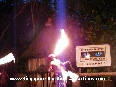 Fire-eating picture at Night Safari Singapore