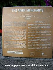Learn Boat Quay history from the information board