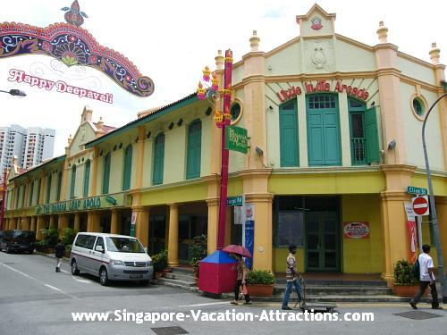Where to go for shopping in Singapore Little India: Little India Arcade and shops along Campbell Lane