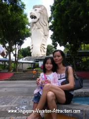 Sentosa Island giant Merlion, the tallest icon of Singapore