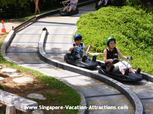 Sentosa luge, an exciting and adventurous activities for people of all ages.