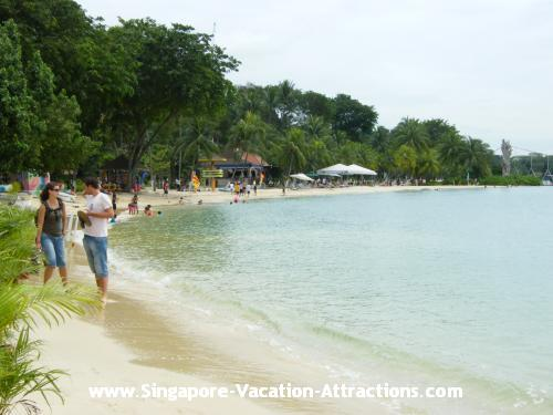 Enjoy all kinds of water sports at Siloso Beach Sentosa, great for young people