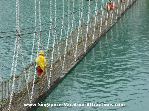 Suspension Bridge at Sentosa Island